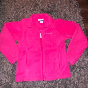 Pink Columbia zip up size 14-16 girls or s/m women